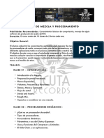 Temario Curso de Mezcla y Procesamiento