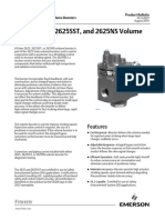 Product Bulletin Fisher 2625 2625sst 2625ns Volume Boosters en 123054