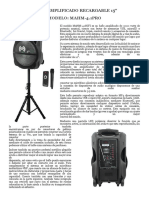 Bafle Amplificado Recargable 15
