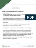 MINISTERIO DE PRODUCCIÓN Y TRABAJO  SECRETARÍA DE GOBIERNO DE AGROINDUSTRIA  Resolución 199/2018