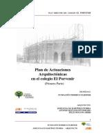 Plan de actuaciones del colegio El Porvenir