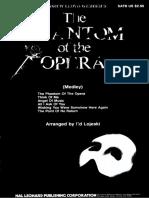 SATB El Fantasma de La Ópera - Medley - SATB