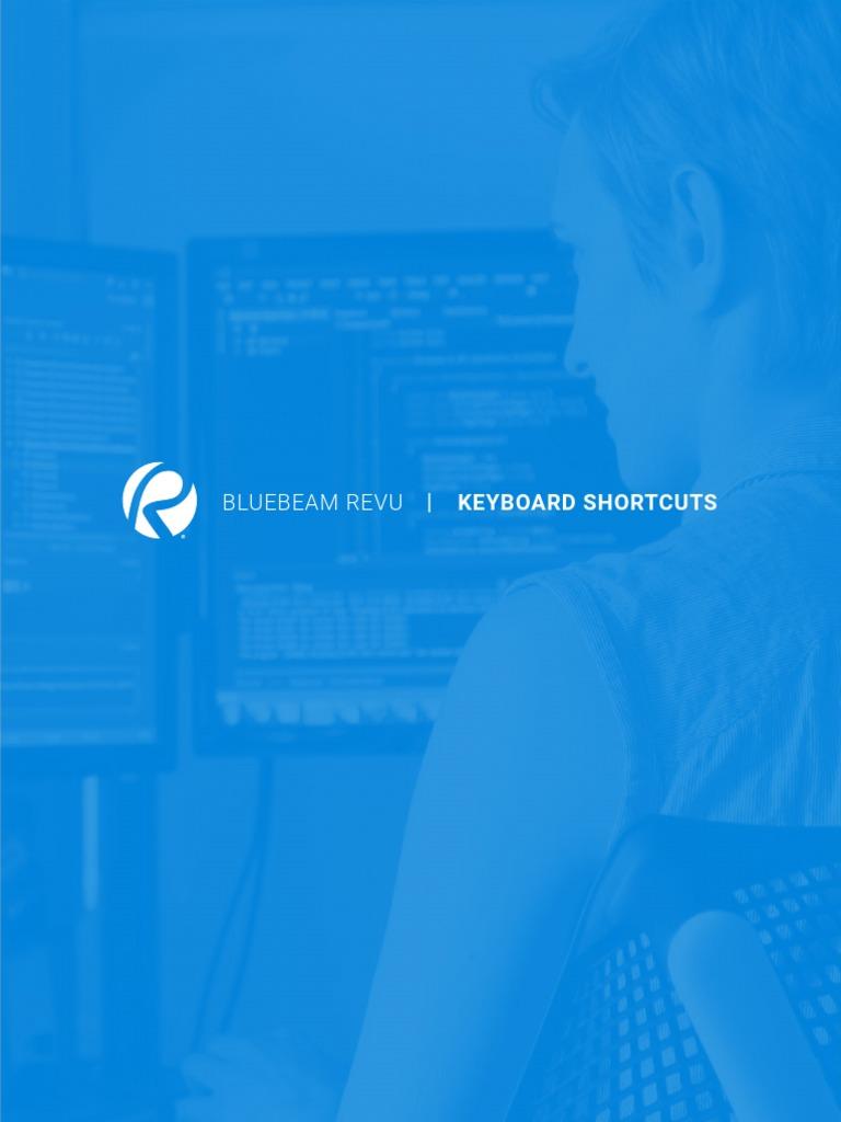 Bluebeam Revu Shortcuts pdf   Tabulação (Interface)   Clique
