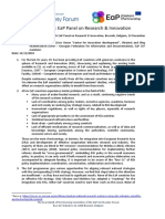 EaP CSF Position Paper R&I Panel