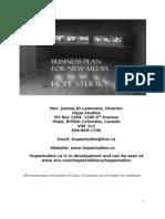 Hope Studios Business Plan