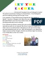meet the teacher sample letter for act binder