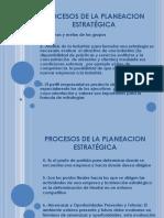 Procesos de la Planeación Estratégica