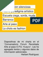 Charla Forum Revisitada Arte al paso E.P.S. Huayco, 03-01-2019