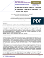 Numerical Investigation of Crude Oil Spilled Mangrove Vegetation