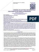 UTILIZING DATA MINING IN GETTING INFORMATION FOR VEHICULAR USERS IN INDONESIA