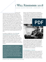 Colorado Coalition for the Homeless Report on Homeless deaths in  2018