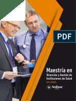 Anáhuac Online - Plan de Estudios Maestria en Dirección y Gestión de Instituciones de Salud