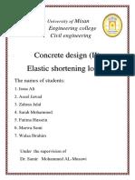 Elastic Shortening