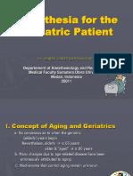 Anesthesia for Geriatric