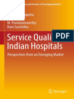 (Advances in Theory and Practice of Emerging Markets) Sanjay Mohapatra, K. Ganesh, M. Punniyamoorthy, Rani Susmitha-Service Quality in Indian Hospitals_ Perspectives From an Emerging Market-Springer I