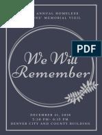 2018 Vigil Program Colorado Coalition for the Homeless