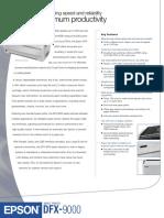 Ficha Técnica Impresora Epson DFX-9000