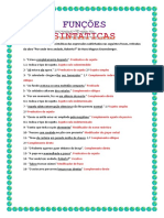 Funções Sintáticas 2 - Correção