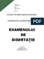 Metodologia Examenului Disertatie FCMPM 2018