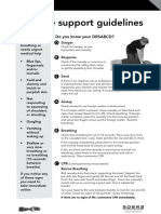 First Aid Basic Life Support Guidelines