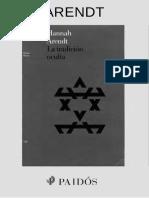 Arendt, Hannah. - La Tradicion Oculta [2005].pdf