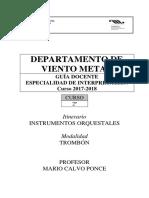 Superior Murcia Instrumento Principal - Trombon II