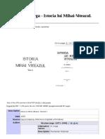 File Nicolae Iorga - Istoria Lui Mihai-Viteazul. Volumul 1.PDF