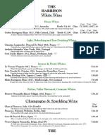 Wine List 2018 The Harrison pub