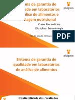 3. Sistema de Garantia de Qualidade e Rotulagem Nutricional