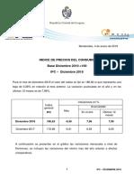 INE - IPC Inflación 2018 Uruguay