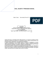 Clase Social Sujeto y Proceso Social. Beba C. Balvé