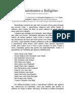 Alexandre Cumino - Sincretismos e Religiões