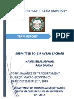 Balance of Trade of Pakistan