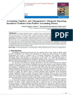 Accounting Numbers and Management's Financial Reporting Incentives
