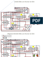 Diagrama - Estrella Delta Con Inversor de Giro