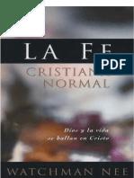 La Fe Crisitiana Normal -- W Nee
