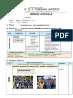 SESIÓN DE APRENDIZAJE 6° PRIMARIA