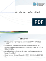 Presentacion y Evaluacion de conformidades ISO