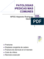Patologias Ortopedicas Mas Comunes