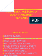 11. Hrvatska Kultura u Doba Narodnih Vladara