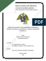 A Analisis de Los Parametros de Operacion Mediante Modelamiento y Simulacion de Evaporadores JOAQUIN ORUNA