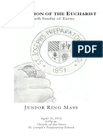 junior ring mass - 2016
