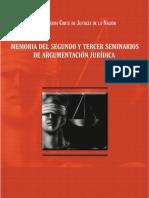 Memoeria Del Segundo y Tercer Seminarios de Argumentacion Juridica