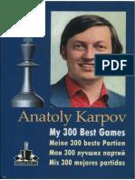 Anatoly Karpov-300 melhores jogos