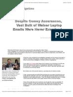 Despite Comey Assurances, Vast Bulk of Weiner Laptop Emails Were Never Examined   RealClearInvestigations.pdf