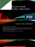 Pemeriksaan Klinik Tumor Intra Abdomen