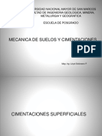 CIMENTACIONES SUPERFICIALES -MECANICA DE SUELOS Y CIMENTACIONES