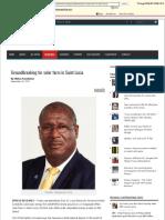 Groundbreaking for Solar Farm in Saint Lucia - St. Lucia News Online