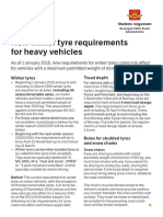 Tyre Requirements (GB) 2014-15