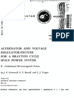 Nasa.cr-1452 Alternator and Voltage Regulator-exciter for a Brayton Cycle Space Power System